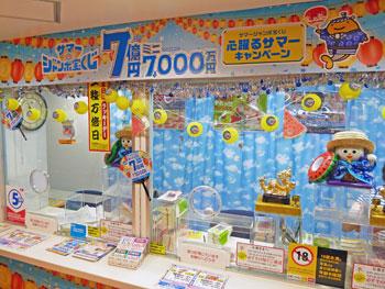 横浜の夏らしい装飾の窓口