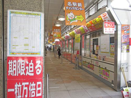お客さんが少なくて寂しい雰囲気の名駅前チャンスセンター