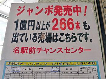 1億円以上が266本も出ているという看板