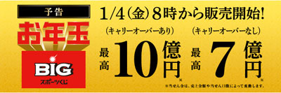 お年玉BIG10億円の宣伝