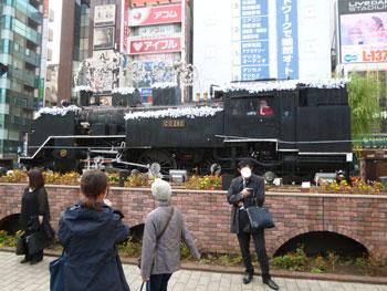 新橋駅SL広場の蒸気機関車