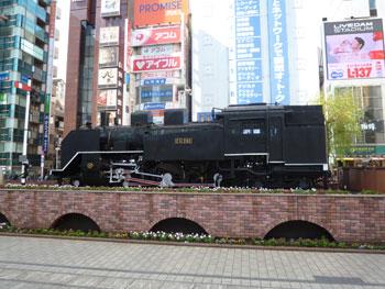 新橋駅前SL広場の蒸気機関車