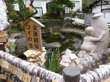 金運招福コイの池
