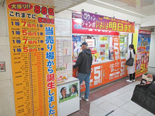 多くのお客さんで賑わっている名鉄観光名駅地下支店