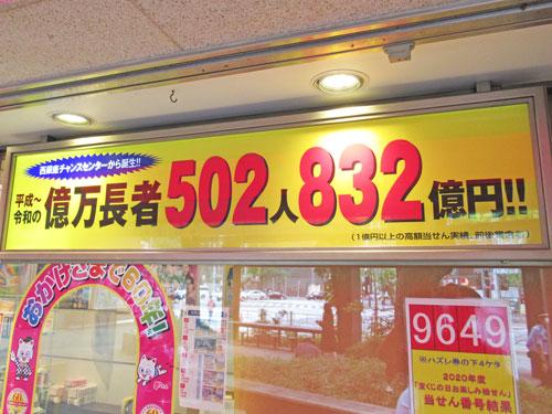 億万長者が502人832億円という看板