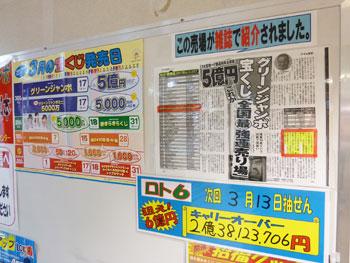 売り場が雑誌に掲載された記事
