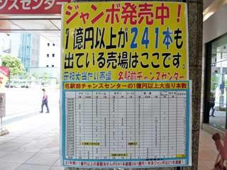 1億円以上が241本も出ている売場と書かれた看板
