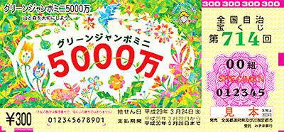 グリーンジャンボミニ5000万宝くじ券