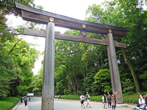 日本一大きい参道の大鳥居