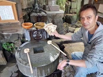 品川神社の一粒万倍の泉