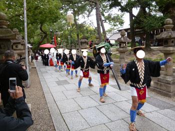住吉大社の神前結婚式の行列