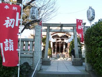 白鬚神社の入口