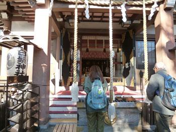 寿老神の本殿に参拝