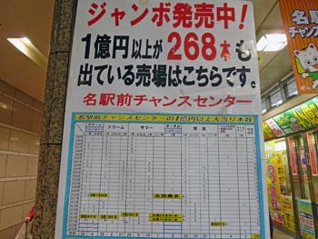 1億円以上が268本も出ている売場ですと書かれた看板
