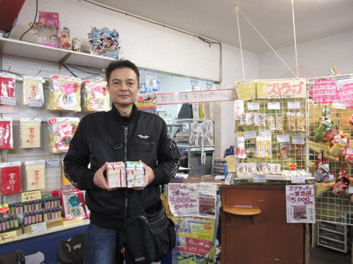 宝当乃館の店内で年冊ジャンボ宝くじを買いました