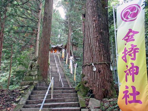 長い階段の参道