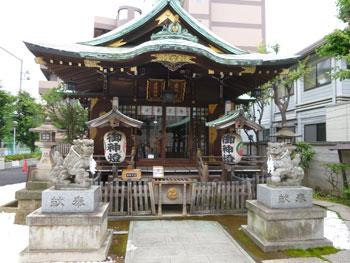 幸稲荷神社の本殿全景