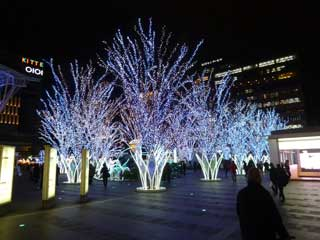 博多駅前のクリスマスディスプレイ