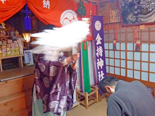 金持神社でバレンタインジャンボ宝くじ高額当選のご祈祷