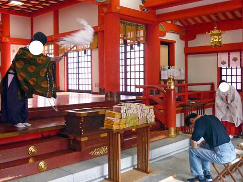 金神社でドリームジャンボ宝くじ高額当選御ご祈祷風景