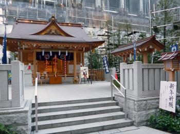 福徳神社の本殿の全景